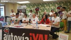 Representantes de la Soria Ya la pasada semana ante los medios de comunicación. /SN