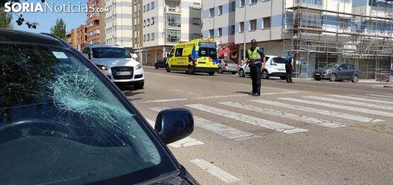 Un siniestro por atropello producido en la avenida de Valladolid. /SN