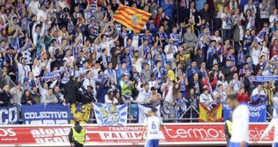Afición del Real Zaragoza en Los Pajaritos este miércoles. /realzaragoza.com