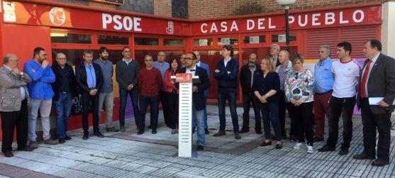 Encuentro de alcaldes celebrado este viernes en la sede del partido. /PSOE