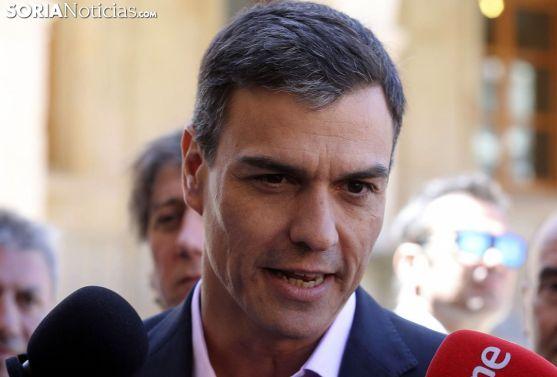 Pedro Sánchez en su visita a la capital soriana el pasado 10 de mayo. /SN