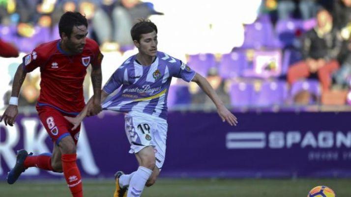 Alberto Escassi, en Pucela ante el Real Valladolid. LaLiga