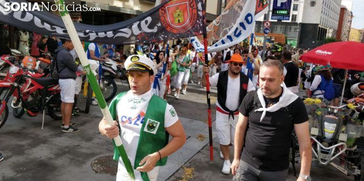 Salida oficial de la Comitiva de San Juan desde el centro de Soria