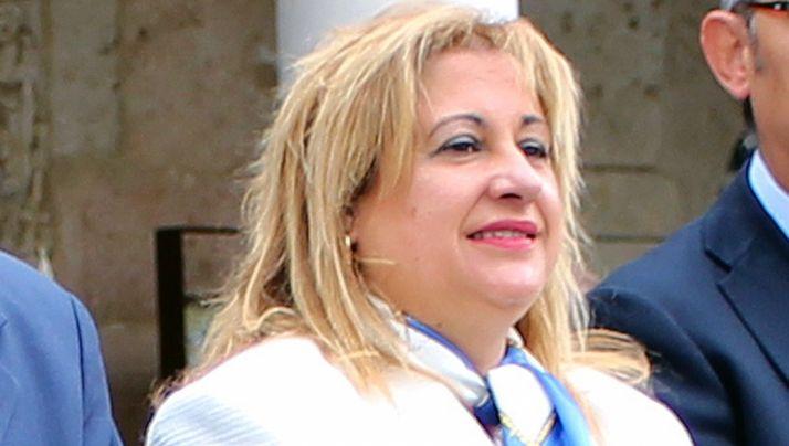 Yolanda de Gregorio este martes en El Burgo.