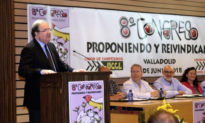 Herrera, en VIII Congreso de la UCCL este viernes.