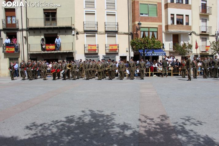 Una imagen del acto en la plaza Mayor de Ágreda. /SN