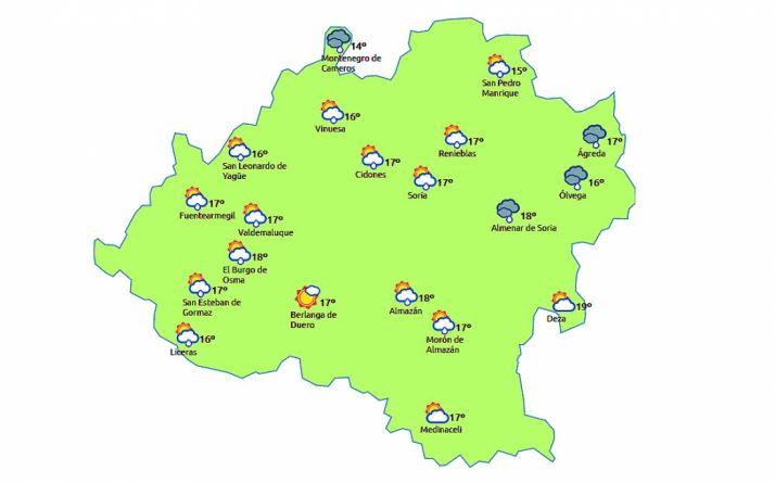 Mapa a las dos de la tarde. /eltimpo.es