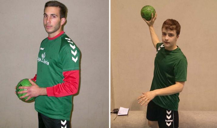 Vallejo y Masedo, jugadores del club de balonmano de la capital. /CBS