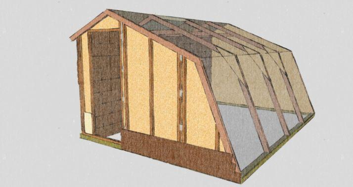 Invernadero de madera. Pico Frentes.
