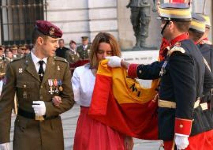 Un acto de exaltación a la bandera.