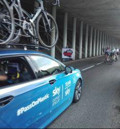 Foto 2 - Las reivindicaciones de Soria Ya, también presentes en el Tour de Francia