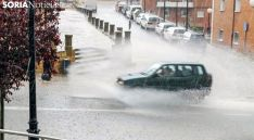 Imagen de un fuerte aguacero en la capital. /SN