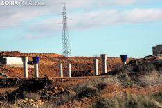 Imagen de archivo de la sobras de la Autovía del Duero