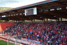 Uno de los fondos, en el útimo partido contra el Valladolid. SN