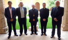 De izquierda a derecha, Otín, Ortega, Martínez Varea, Rodríguez y Millán. /DOS