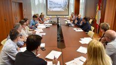 Reunión este jueves en la Delegación Territorial de la Junta en Soria. /Jta.
