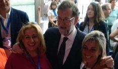 De Gregorio, (izda.) con Mariano Rajoy este viernes. /PP Soria