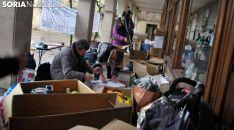 Recogida de material para refugiados sirios en la plaza Mayor. /SN