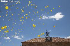 Los globos de El Cuadro al cielo de Soria el Lunes de Bailas