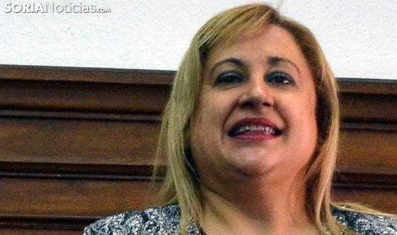 Yolanda de Gregorio, en el acto de toma de posesión del actual subdelegado el pasado 5 de julio. /SN