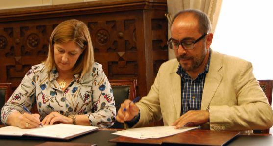 Una imagen de la firma del acuerdo. /Dip.