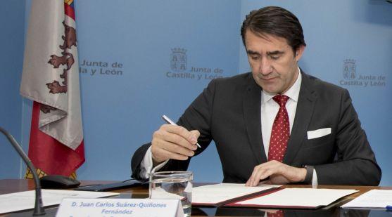 El consejero de Fomento y Medio Ambiente, Juan Carlos Suárez-Quiñones. /Jta.