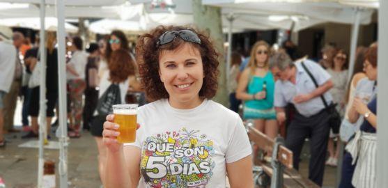 Raquel Frías, disfrutando de San Juan en Herradores
