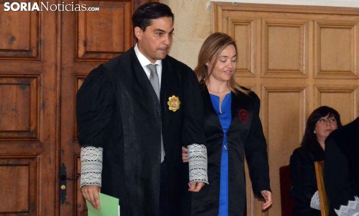 Juan Carlos Padín y su esposa, Fátima Moreno 'madrina' del acto de toma de posesión. /SN