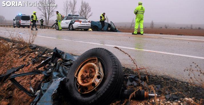 Un siniestro ocurrido en una carretera soriana el año pasado. /SN