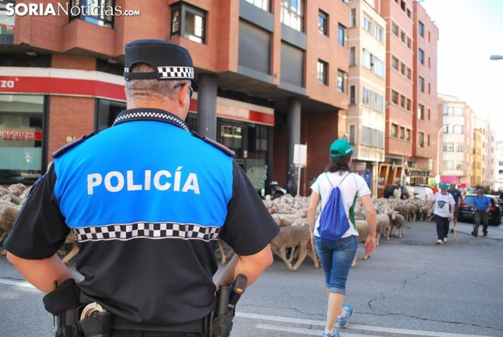 Una imagen del paso del ganado por la ciudad. /SN