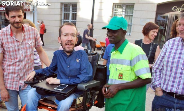 Pablo Echenique en una visita a Soria hace dos años. /SN