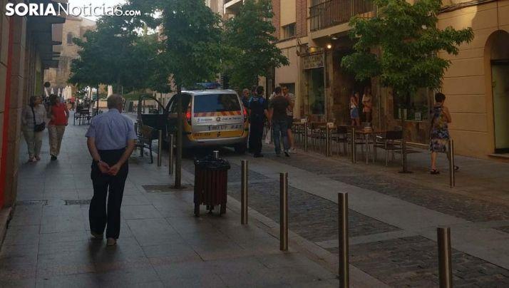 La calle Medinaceli esta tarde de miércoles. /SN