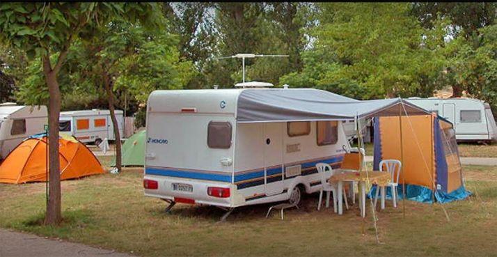 Imagen del camping Fuente de la Teja, en Soria.