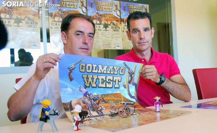 Benito Serrano (izda.) y José Ángel Romera, en la presentación del Golmayo West. /SN