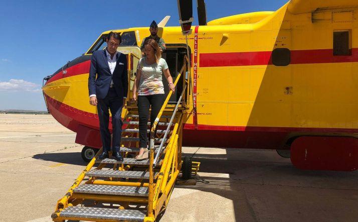 La delegada del Gobierno y el consejero de Medioambiente este miércoles en Salamanca. /Jta.
