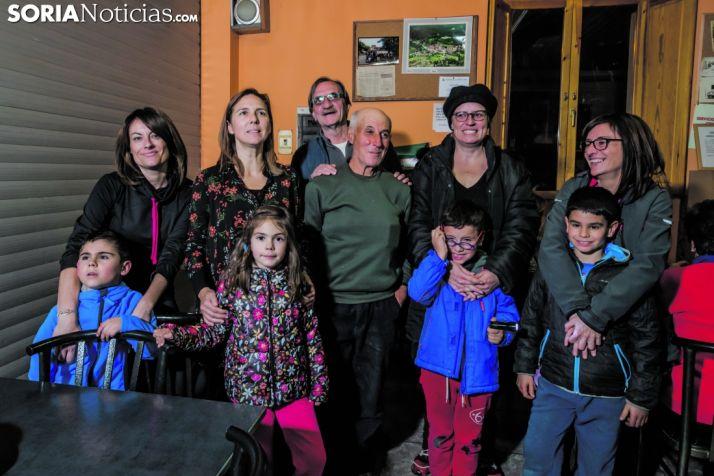 Socios de la asociación 'San Roque' de Muriel Viejo.