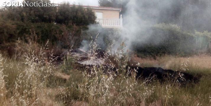 Imagen del lugar del fuego ya sofocado. /SN
