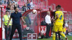 López Gari, durante su estreno en Soria como entrenador del Numancia. LaLiga