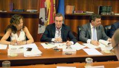 De Santiago Juárez (ctro.) en la reunión del Consejo este martes. /Jta.
