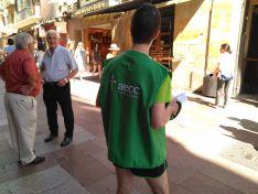 Imagen de la cuestación anual de la AECC de Soria.