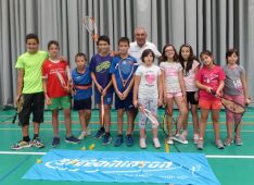Participantes en el Crossminton. Speed Bádminton Soria.