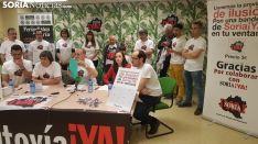 Miembros de la Soria Ya en una rueda de prensa. /SN