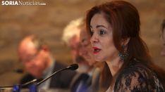 Silvia Clemente, presidenta de las Cortes regionales en su última visita a la provincia este verano. /SN