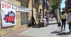 Mesa informativa de la Soria Ya ayer miércoles. /SN
