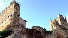 Imagen del castillo tras el derrumbe de uno de sus muros a finales de junio. /SN