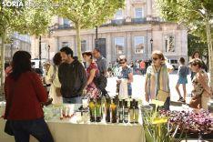 Mercado Ecológico en la plaza de San Esteban. /EM