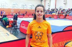Rocío García en los Juegos Universitarios Europeos.