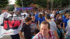 Movilización de Soria YA en Peñafiel.