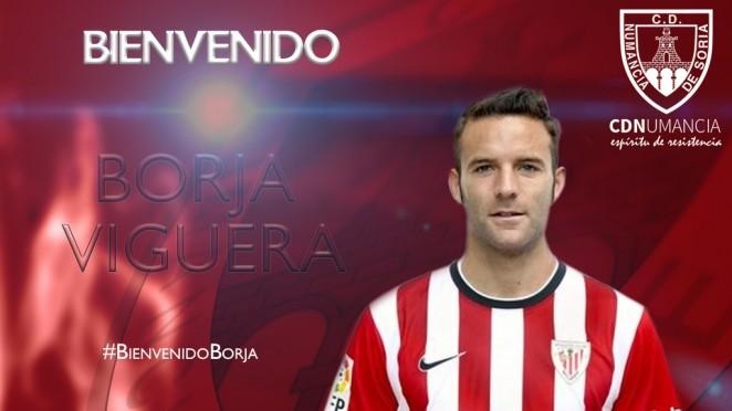 Foto 1 - El CD Numancia incorpora al delantero Borja Viguera