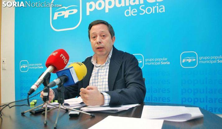Adolfo Sainz, portavoz del PP en el Ayuntamiento de la capital. /SN